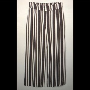 H&M striped ankle length pants